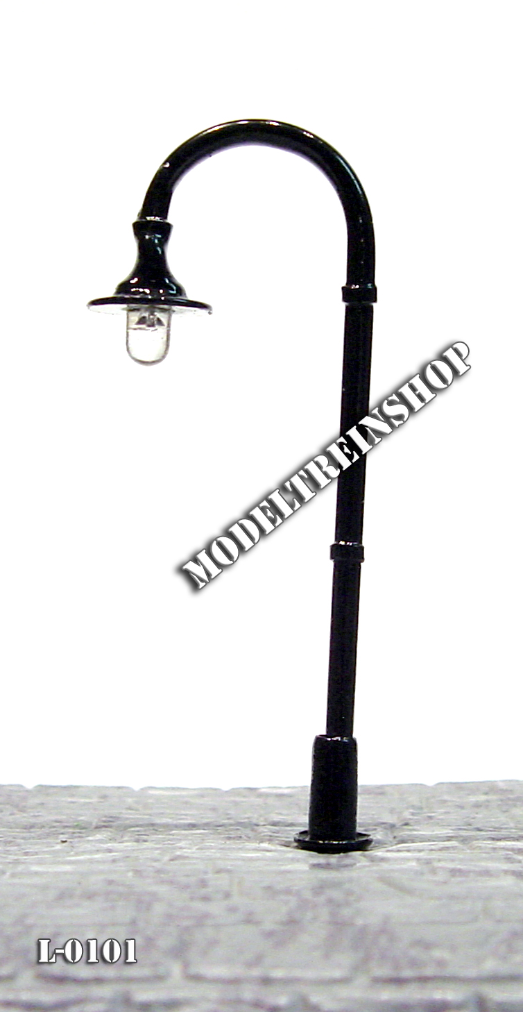L-0100 H0 - LED Lantaarnpaal 3V Koud Wit - Modeltreinshop - Modeltreinshop