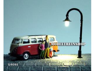 L-0101 - LED Lantaarnpaal - Warm Wit - Modeltreinshop