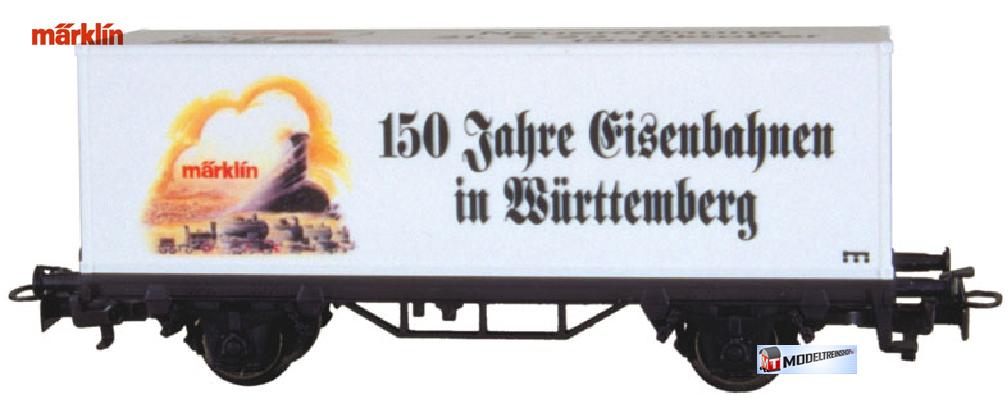 Marklin HO 4481 V.S19 Container Wagen - 150 Jahre Eisenbahnen in Württemberg - Modeltreinshop