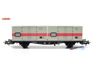 Marklin H0 00756-13 Container wagen DB - Modeltreinshop