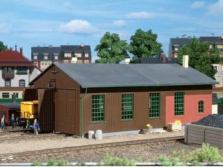 Auhagen HO 11332 Locomotief loods dubbelspoor - Modeltreinshop
