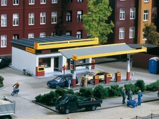 Auhagen HO 11340 Tankstation Shell of Minol - Modeltreinshop