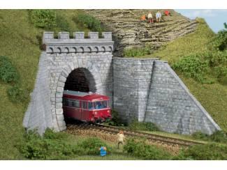 Auhagen HO 11342 Tunnelportalen enkel spoor - Modeltreinshop