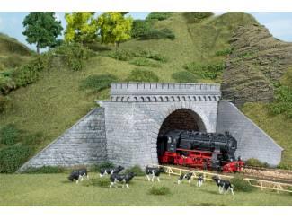 Auhagen HO 11343 Tunnelportalen dubbelspoor - Modeltreinshop