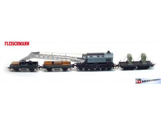 Fleischmann H0 1495 Kraanwagen set - Modeltreinshop