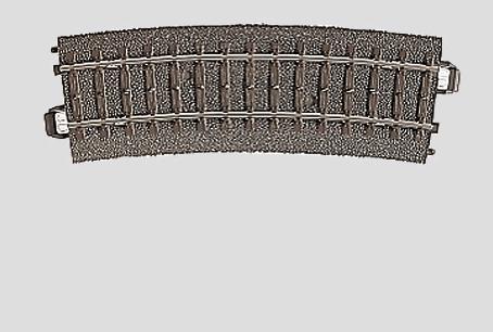 Marklin C Rail 24215 Gebogen rail 437,5 mm - Modeltreinshop