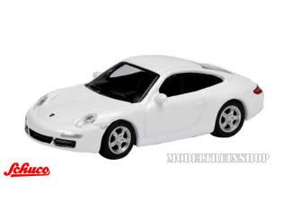 Schuco H0 25518 Porsche 911 Carrera S Coupe Wit - Modeltreinshop