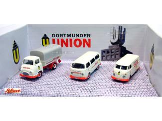 Schuco H0 25649 Wagen Set Dortmunder Union - Modeltreinshop