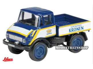 """Schuco H0 25749 Mercedes Benz Unimog U406 """"Dortmunder Krone"""" - Modeltreinshop"""