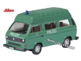 Schuco H0 25784 Volkswagen T3 Bus Polizei - Modeltreinshop