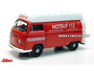 Schuco H0 25827 Volkswagen Bus T2a Feuerwehr - Modeltreinshop