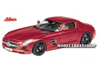 Schuco H0 25855 Mercedes-Benz SLS AMG Coupe Rood - Modeltreinshop
