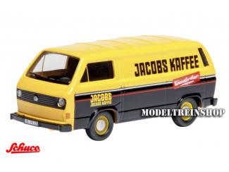 "Schuco H0 25871 Volkswagen Bus T3 ""Jacobs Kaffee"" - Modeltreinshop"