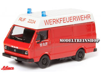 """Schuco H0 25874 Volkswagen LT """"Werkfeuerwehr"""" - Modeltreinshop"""