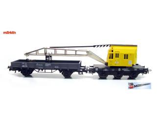 Marklin 29183 Kraanwagen met Lageboordwagen - 4611 4671 - Modeltreinshop