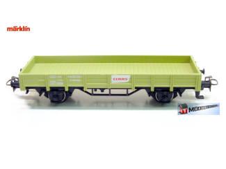 Marklin H0 29652 Lageboordwagen Claas 2 assen - Modeltreinshop