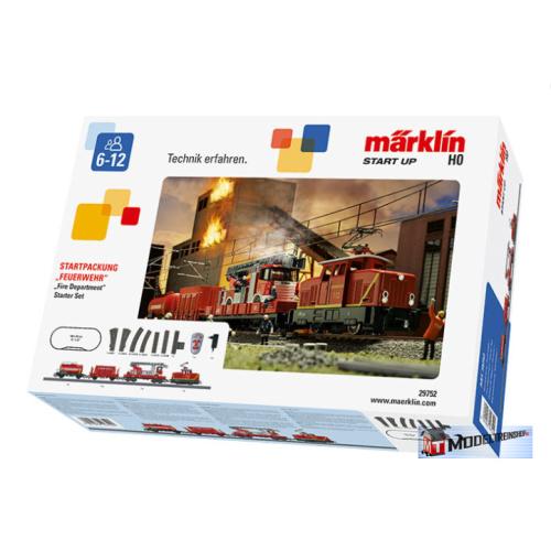 Marklin HO 29752 Startset Brandweer - Modeltreinshop