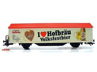 Marklin HO 31772 Schuifwandwagen I Love Hofbräu Volksfestbier - Modeltreinshop