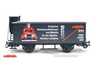Marklin HO 31979 Goederenwagen met remhuisje Funf Jahre MHI - Modeltreinshop