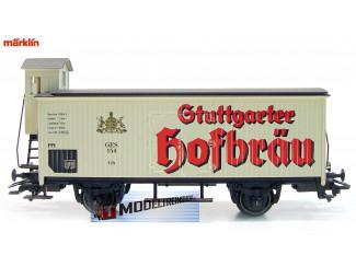 Marklin HO 34957 Bierwagen Stuttgarter Hofbräu - Modeltreinshop