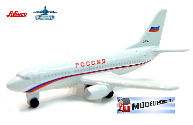 Schuco 3551586 Boeing 737-500 Rossiya Russian Air - Modeltreinshop
