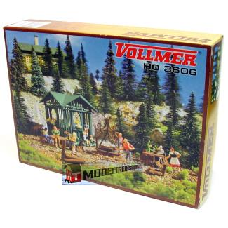 Vollmer HO 3606 barbecue met hut - Modeltreinshop