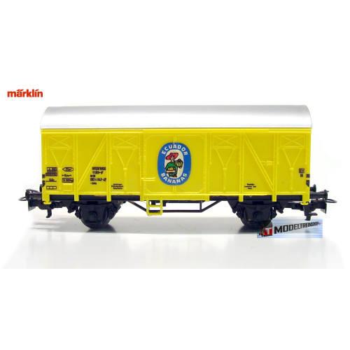 Marklin HO 4414 V1 Gesloten Goederenwagen Ecuador Bananas - Modeltreinshop