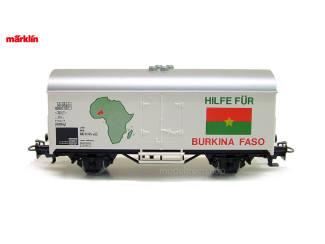 Marklin Primex HO 4593 V1 Goederenwagen Hilfe Für Burkina Faso fModeltreinshop