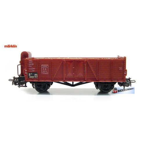 Marklin HO 4601 V4 Hogeboord Wagen Met Remhuisje en lading - Modeltreinshop