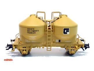 Marklin H0 46617-02 Staubbehälterwagen SOCIETE DES CIMENTS FRANCAIS - Modeltreinshop