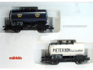"""Marklin H0 48542 Set ketelwagens minerale olie """"Pieter Bon"""" - Modeltreinshop"""