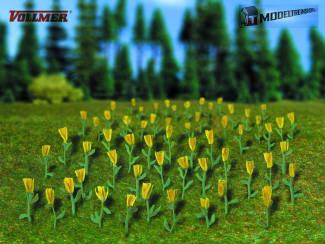 Vollmer HO 5122 Tulpen Geel 120 stuks - Modeltreinshop