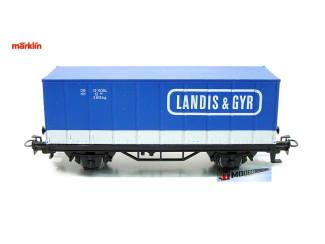 Marklin H0 4481 86703 Containerwagen Landis & Gyr - Modeltreinshop