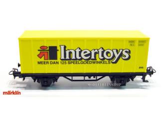 Marklin HO 4481 Container wagen Intertoys - Modeltreinshop