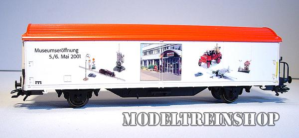 Marklin HO 94088 Schuifwandwagen Marklin Museum Heropening Mei 2001 - Modeltreinshop