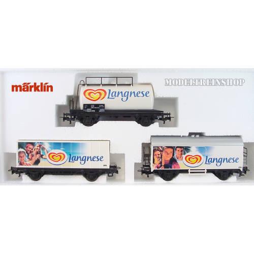 Marklin H0 94107 Goederen Wagenset Langnese - Modeltreinshop