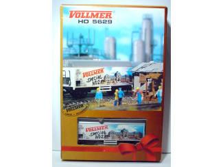 Vollmer HO 5629 Bouwkeet en Gesloten Goederen Wagen Vollmer Special No 2 - Modeltreinshop