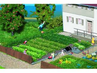 Noch 07139 Bodembedekker kleuren groen bosjes en stroken 36 stuks - Modeltreinshop