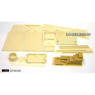 Artitec H0 10.188 Schuur en accessoires, bouwpakket uit resin, ongeverfd - Modeltreinshop
