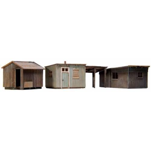 Artitec H0 10.199 Tuinschuurtjes bouwpakket uit resin, ongeverfd - Modeltreinshop