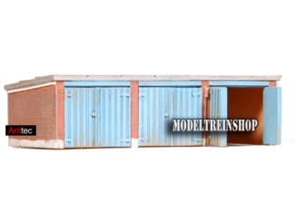 Artitec N 14.131 Garages bouwpakket Resin, ongeverfd - Modeltreinshop