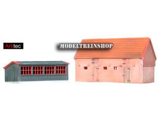 Artitec N 14.134 Kippenhok en varkensstal bouwpakket uit resin, ongeverfd - Modeltreinshop
