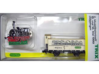 Trix N 15025 Goederenwagen 40 Jahre met pin - Modeltreinshop