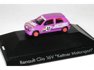 Herpa H0 181396 Renault clio 16V Kettner Motorsport - Modeltreinshop
