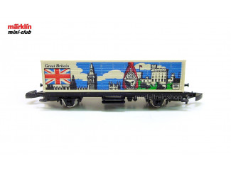 Marklin Z 2551 Containerwagen Great Britain - Modeltreinshop