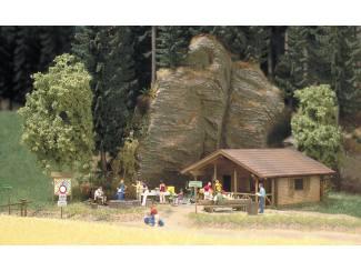 Busch H0 1035 H0 Blok hut - Modeltreinshop
