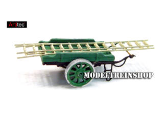 Artitec N 316.16 Ladderwagen groen kant en klaar resin, geverfd - Modeltreinshop