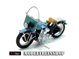 Artitec H0 387.04 US motorcycle Liberator civiel blauw - Modeltreinshop