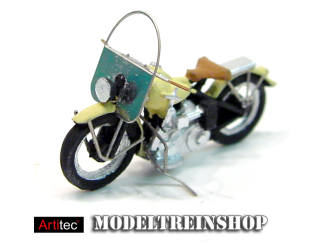 Artitec H0 387.04 US motorcycle Liberator civiel ivory - Modeltreinshop