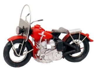 Artitec H0 387.04 US motorcycle Liberator civiel rood - Modeltreinshop